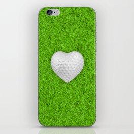 Golf ball heart / 3D render of heart shaped golf ball iPhone Skin