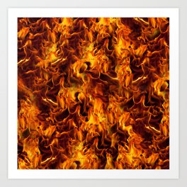 Fire and Flames Pattern Art Print