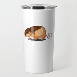 Pellet Factory Hamster Rodents Wild Animals Domestic Pet Lovers Gifts Travel Mug
