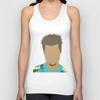 tyler durden Tank Tops featuring Tyler Durden Fight Club by Rosaura Grant