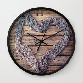 Yarn. Love. Wall Clock