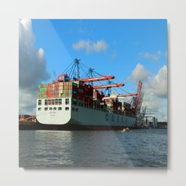 Cosco Cotainer Ship Metal Print