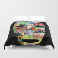 spirited away Duvet Covers featuring No Face by Ilse S
