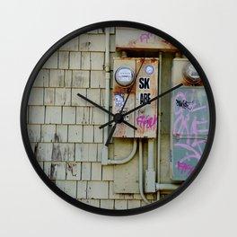Graffiti in a Sun Town Wall Clock