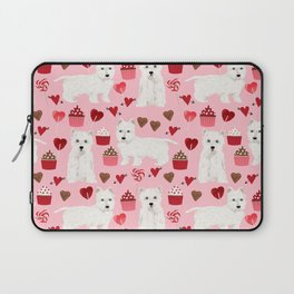 Westie west highland terrier dog breed valentines day cute dog person must have gifts pet portraits Laptop Sleeve