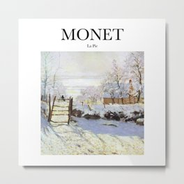 Monet - La Pie Metal Print
