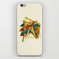 native american iPhone & iPod Skins featuring Native American by Jo Tan