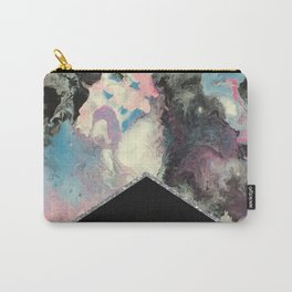 Marbled Solid Silver Carry-All Pouch