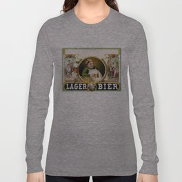 Vintage Lager Beer Advertisement Long Sleeve T-shirt