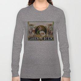Vintage Lager Beer Advertisement Long Sleeve T-shirt