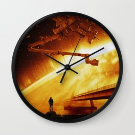 Red Sun Chronicle Wall Clock