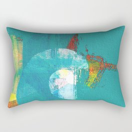 Tournament (knight turquoise) Rectangular Pillow