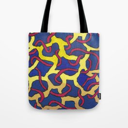 Abstract blue painting  Tote Bag