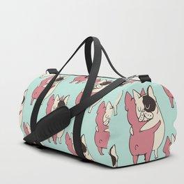 French Bulldog  Hugs Duffle Bag
