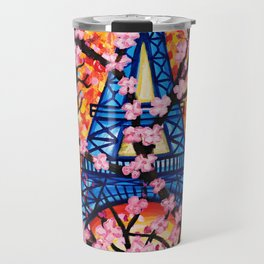 Paris Cherry Blossoms Travel Mug