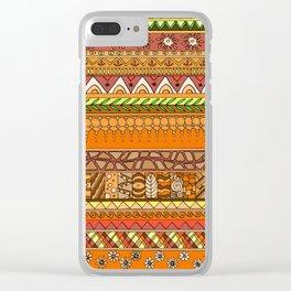 Yzor pattern 012 rich summer Clear iPhone Case