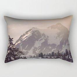 Pink Mountain Morning - Nature Photography Rectangular Pillow