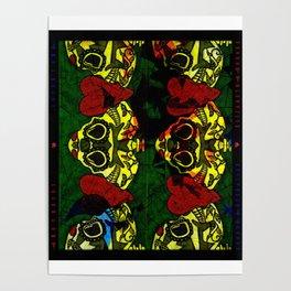 Amo y Besos Symmetrical Art Poster