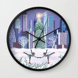 Christmas Park Wall Clock