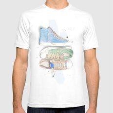 Converse Shoes White Mens Fitted Tee MEDIUM