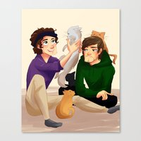 larry Canvas Prints featuring Larry by Tori