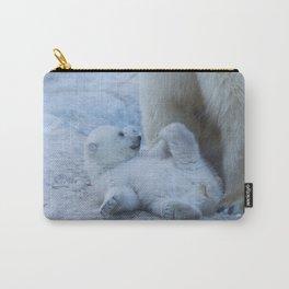 polar bear mother with cub Carry-All Pouch