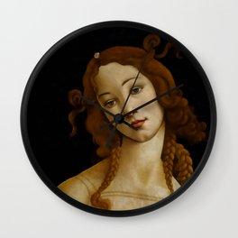 "Sandro Botticelli ""Venus"" (Sabauda Gallery, Turin) Wall Clock"