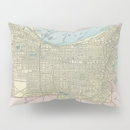 Vintage Map of Louisville KY (1901) Pillow Sham
