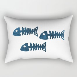 Fish Skeleton Rectangular Pillow