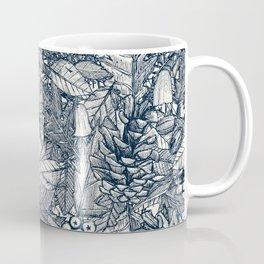 forest floor indigo ivory Coffee Mug