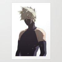kakashi Art Prints featuring Kakashi Hatake  by Iotara