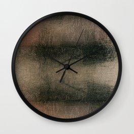 Modern Abstract Pink Black Grunge Wall Clock