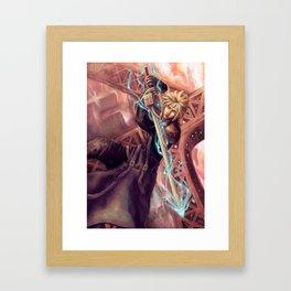 FFVII Advent Children Cloud Framed Art Print