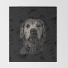 Family Dog - Peyton the Serious Dog Throw Blanket