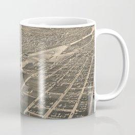 Vintage Pictorial Map of Minneapolis MN (1879) Coffee Mug