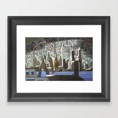 Crowded Skyline Framed Art Print