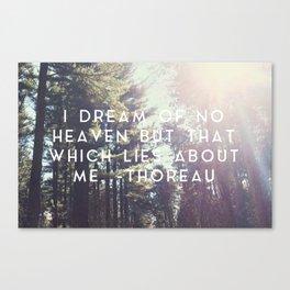 Heaven Lies About Me Canvas Print