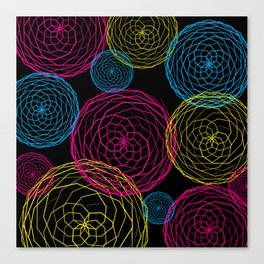 Spiro Blooms in Noir Canvas Print