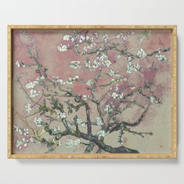 Almond Blossom - Vincent Van Gogh (pink pastel and cream) Serving Tray