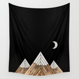 Digital Grain Mountains Wall Tapestry