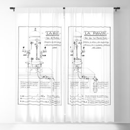 La Pavoni Patent Drawing Poster (Very Old & Rare) Blackout Curtain