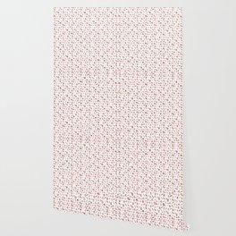 Girly Rose Gold Rosette Pattern Wallpaper