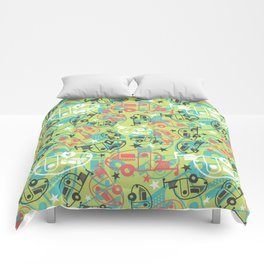 Retro Green T@b Trailers Comforters