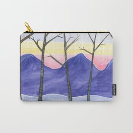 Five Trees in Winter Carry-All Pouch