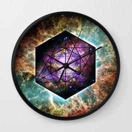 Crab Nebula // Metatron's Cube Wall Clock