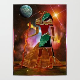 Ancient Secrets THOTH 3D Scifi Egyptian Poster