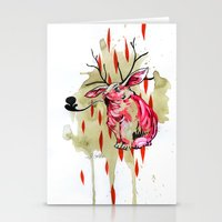 jackalope Stationery Cards featuring Jackalope by Manfish Inc.