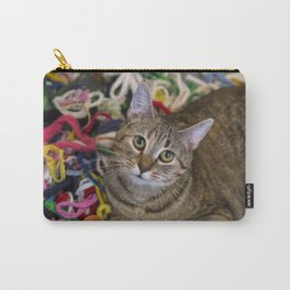 Kitten In Colorful Looms Carry-All Pouch
