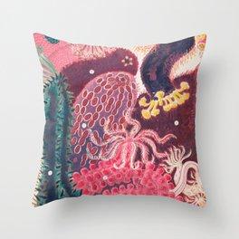 Sea Cucumber Trepang Vintage Sealife Illustration Throw Pillow