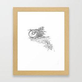 Ocean Spill Framed Art Print